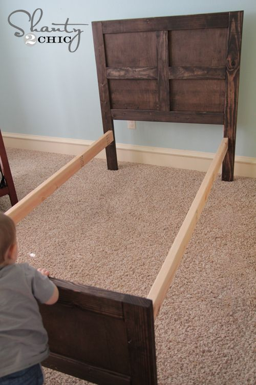 How to build a bed - pottery barn inspired bed