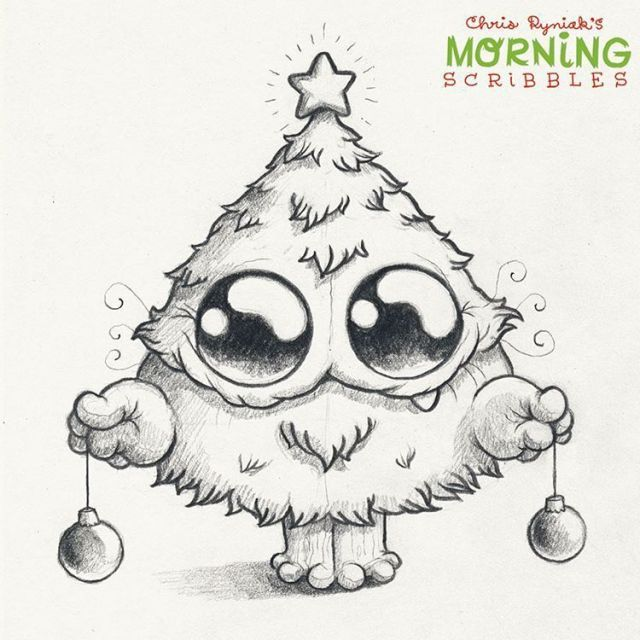 Chris Ryniak In 2020 Cute Monsters Drawings Christmas Drawing Cute Drawings