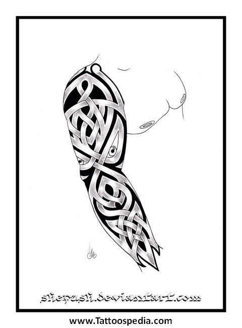 Tattoo Sleeve Flash Template: 49 Best Images About Wolf Tattoo Sleeve Templates On Pinterest