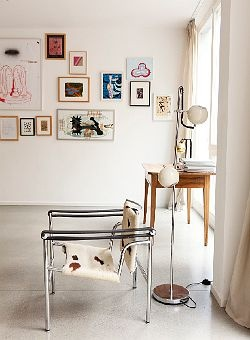 gallery, via the selby: Interiors Wall, Wall Frames, Chairs, Apartment Inspiration, Galleries Wall, Christopher Niemann, Design Home, Art Wall, Pictures Wall