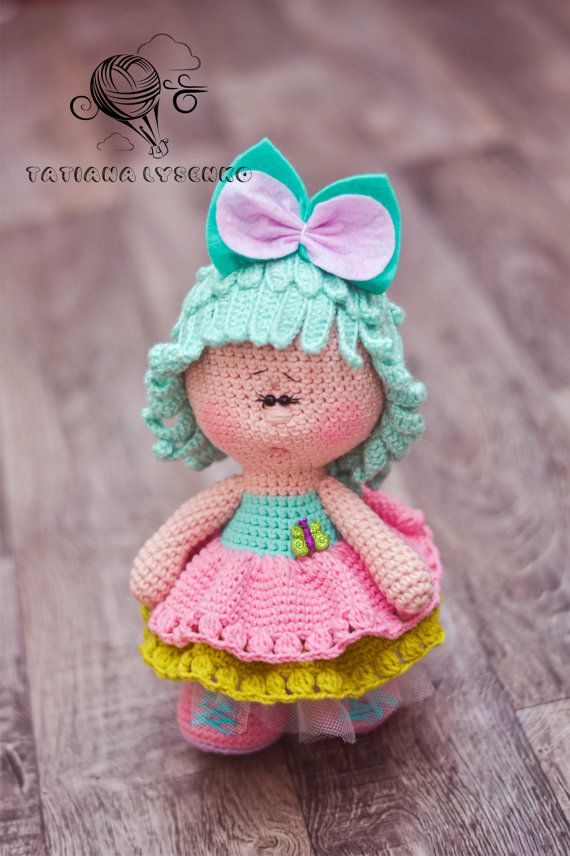 Offer you heed the master class on creating knitted dolls. Difficulty average. This does not contain u and lessons knitting involves knitting skills. MK after payment during the day will be sent to e-mail the buyer. ********************************************************************** Pattern in Russian and English.