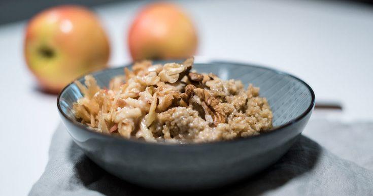 VIDEO: Quinoagröt med äpple och kanel