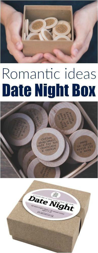 The date night box! Perfect gift idea for your husband/boyfriend or significant other! Put this box in your spouse's stocking for fun all year long! Perfect romantic gift idea. Affiliate