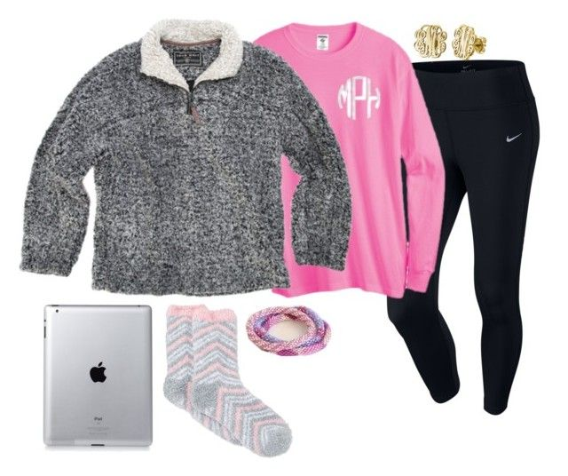 """""""Day off = Relaxation day"""" by simplesouthernlife01 ❤ liked on Polyvore featuring NIKE, True Grit, Charter Club and My Name Necklace"""