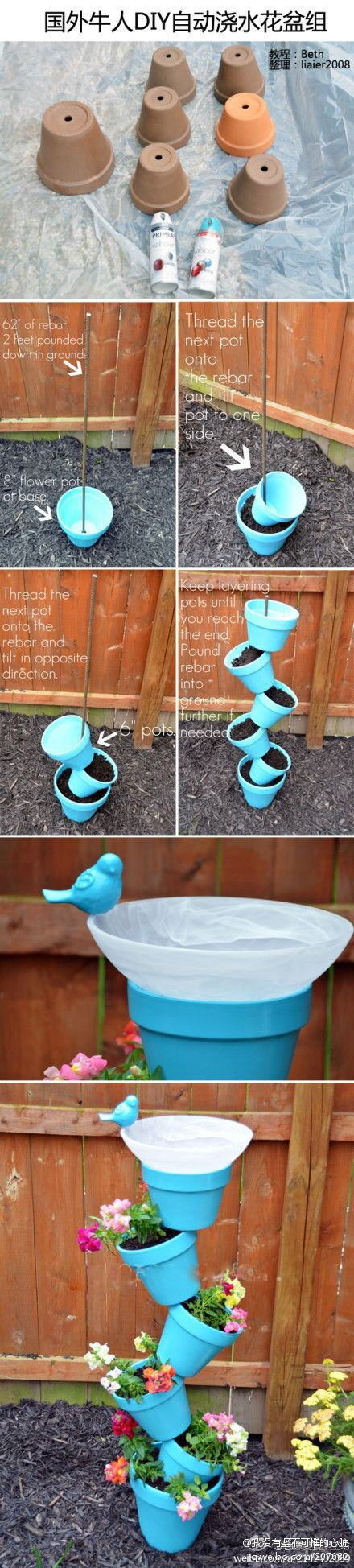 The foreign cattle diy automatic watering flowerpot group