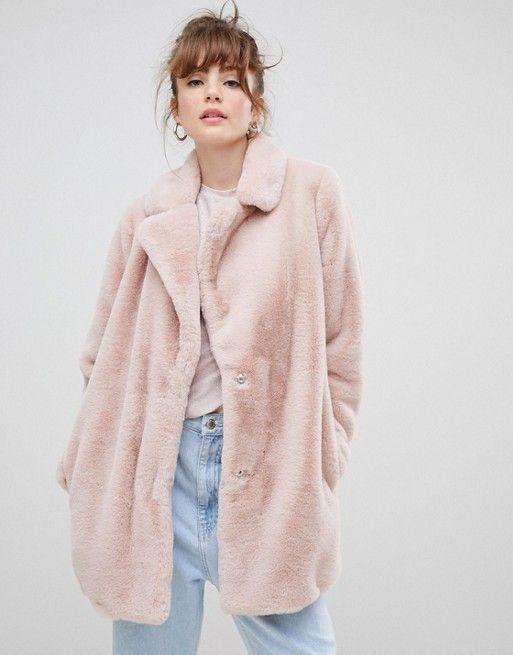 b4aa36c32782 Coat Guide | Fall and Winter | Pink faux fur coat, New look coats ...
