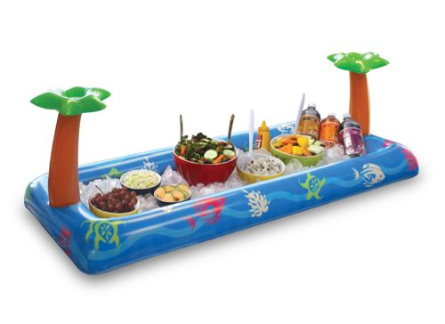 Aufblasbares Buffet Tropical Party Ideal Für Partys, BBQ, Pool Party,  Sommer Feste.