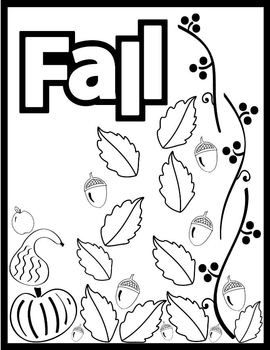 fallautumn coloring page celebrate the coming of fall with this easy to use coloring page