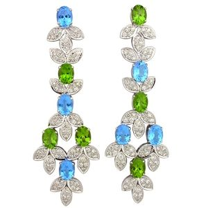 Colors of the ocean are beautifully shimmering in these #earrings. #jewelry #Jaipur #Fashion #Jewellery www.kalajee.in