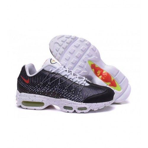 Bast Nike Air Max 95 Herr Loparskor Svart Vit Rod 0844