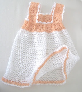 Love Crochet: Crocheted Newborn infant Baby Girl dress 0