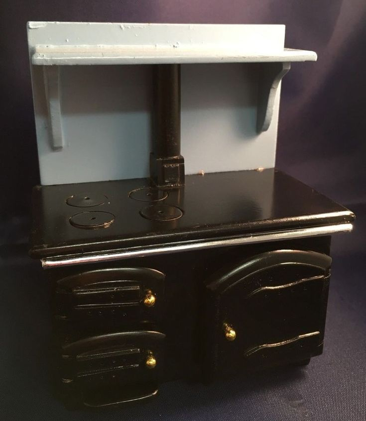 1/12th Scale Dollhouse - Black and Blue Range Oven. Lovely and simple black and blue oven range with fully opening doors. | eBay!