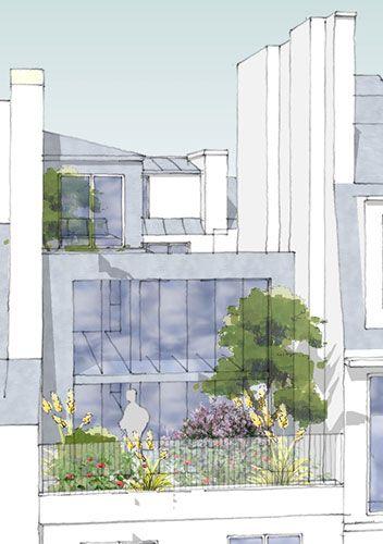 surelevation-immeuble-le-marais-paris-vue-generale-1-Nicolas Miessner Architecte Paris
