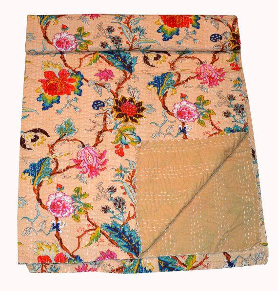 Indische Handarbeit Kantha Quilt werfen Gudari von Marusthali