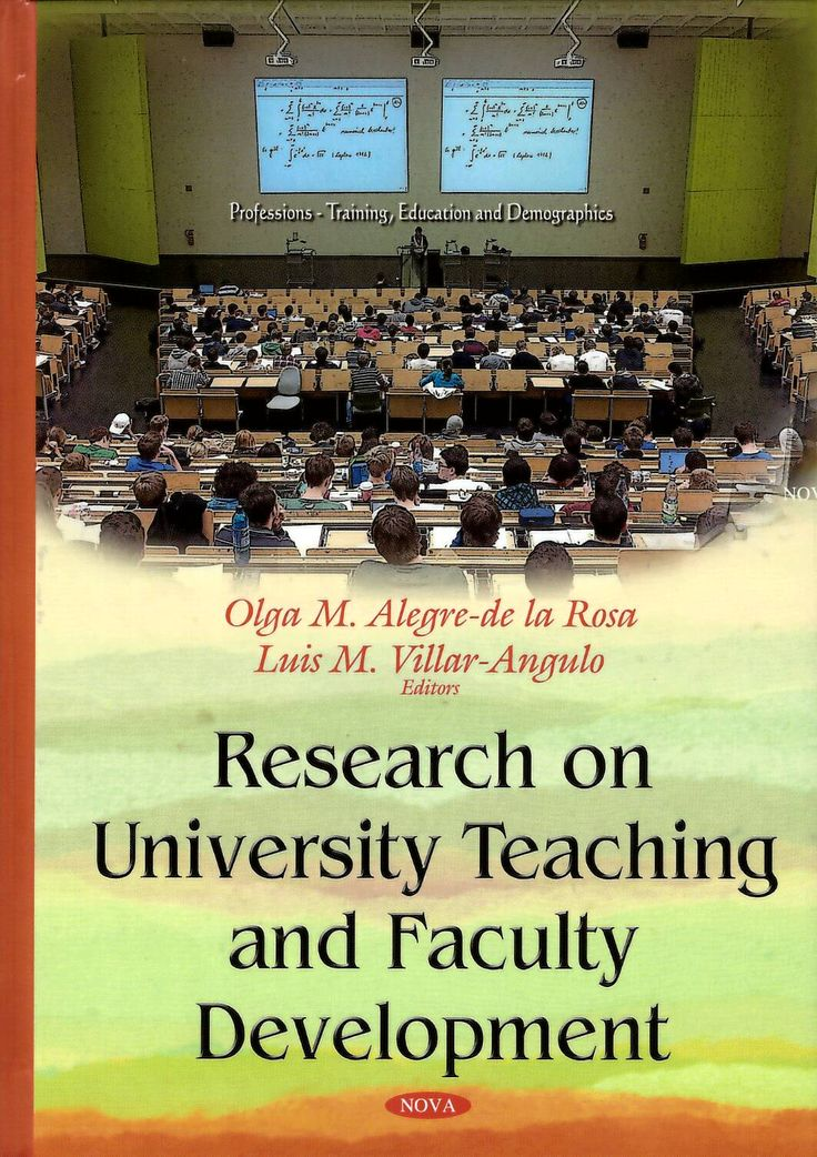 Research on University Teaching and Faculty Development / Olga M. Alegre de la Rosa and Luis M. Villar Angulo, editors. http://absysnetweb.bbtk.ull.es/cgi-bin/abnetopac01?TITN=541644