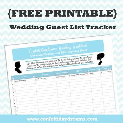 177 best wedding printables images on Pinterest Boxes, Cards and - sample wedding guest list