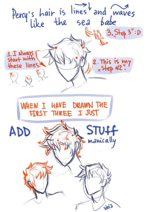 How to draw Percy hair!!!!! So there ya havit from Le talented Viria!!!!!!!!