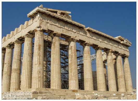 A wonderful photograph of the Parthenon
