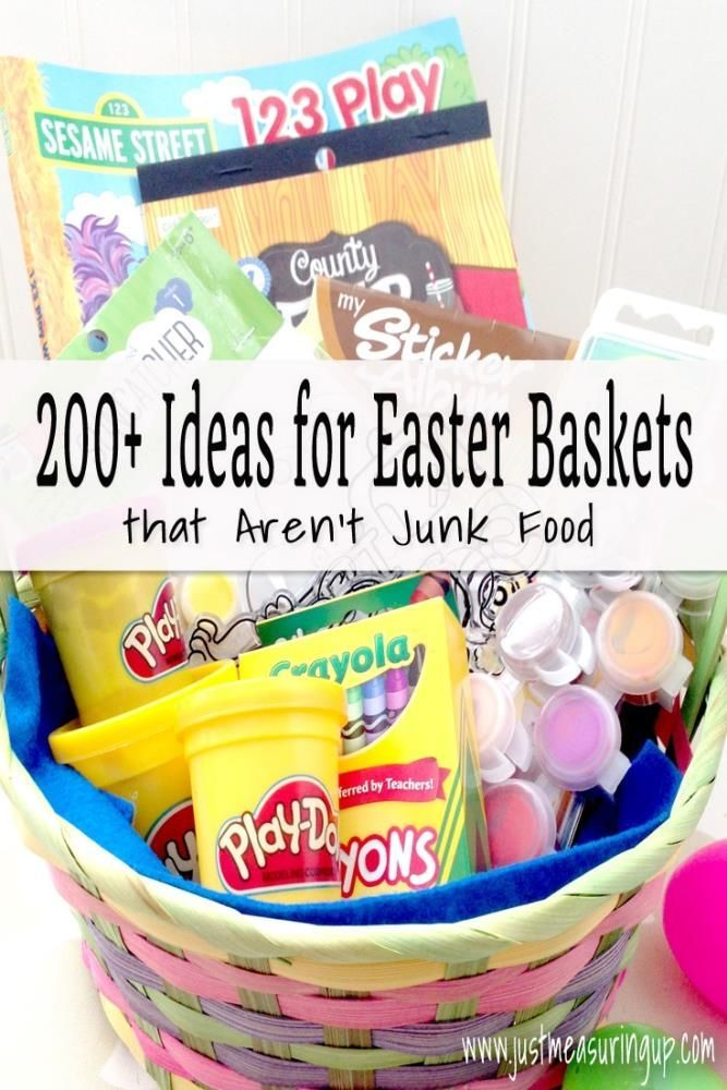 More Than 200 Ideas For Easter Baskets That Are Candy Free Easter Kids Healthy Easter Basket Kids Easter Basket