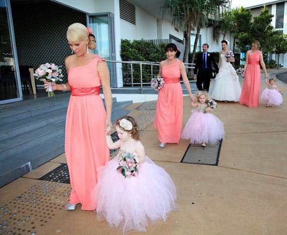 flower girl tutu dress wedding tutu custom by pinkgiraffebowtique, $69.95