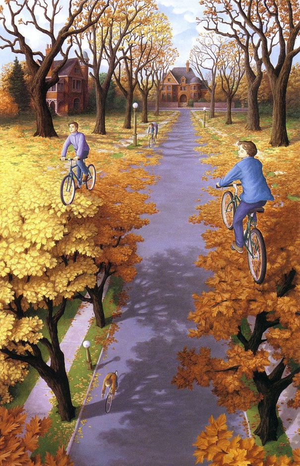 Mind-Bending Optical Illusions by Rob Gonsalves 2