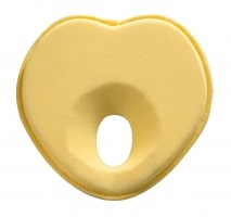 Yellow Lovenest - Ergonomic head rest for a well-rounded head! Created and patented by a well-known French paediatrician, Dr Maidenberg, the Lovenest is a comfortable and ergonomic head support which is used in the prevent of 'flat head syndrome.' - Suitable to use anywhere (beds, bouncers, pushchairs...) - Used from birth - Washable