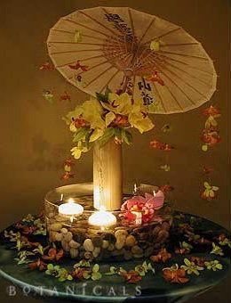 oriental centerpiece | Wedding, Centerpiece, Asian, Parasol - Project Wedding