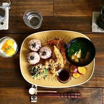 オーガニックカフェでお食事してるみたい!  彩りも良く、盛り付け方も本当に勉強になります(*^_^*)