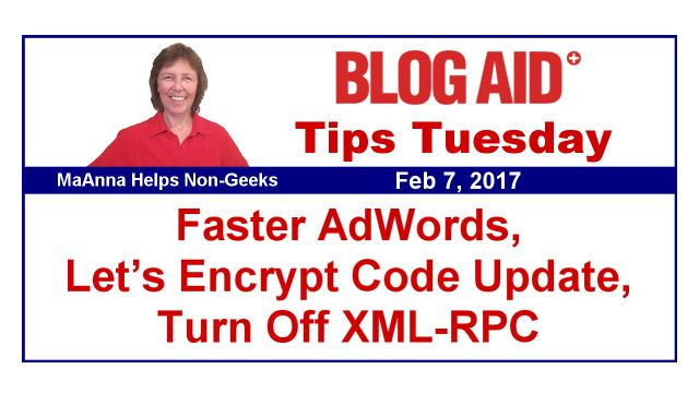 Tips this week include:    Celebrating this podcast listed in top ones to catch in 2017   HTTPS site conversion checklists updated   New code in .htaccess for Let's Encrypt SSL Certification validation   DIY SEO member site updates   Webmaster bonus material updates   What's coming in WordPress 4.7.3   Why and how to put a privacy policy on your site   Why to stop doing SEO like it's 2012   Major Russian spam bot attack continues   Proof of why you have to turn XML-RPC fully off   A little…