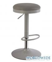 TURF GAS LIFT STOOL, GREY - swivel, adjustable height  also available in red, black and lime