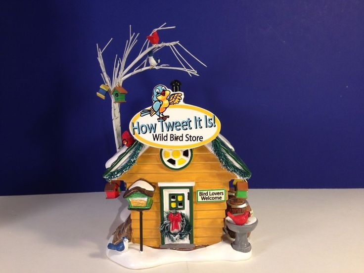 Dept 56 HOW TWEET IT IS WILD BIRD STORE Snow Village Combine Shipping!