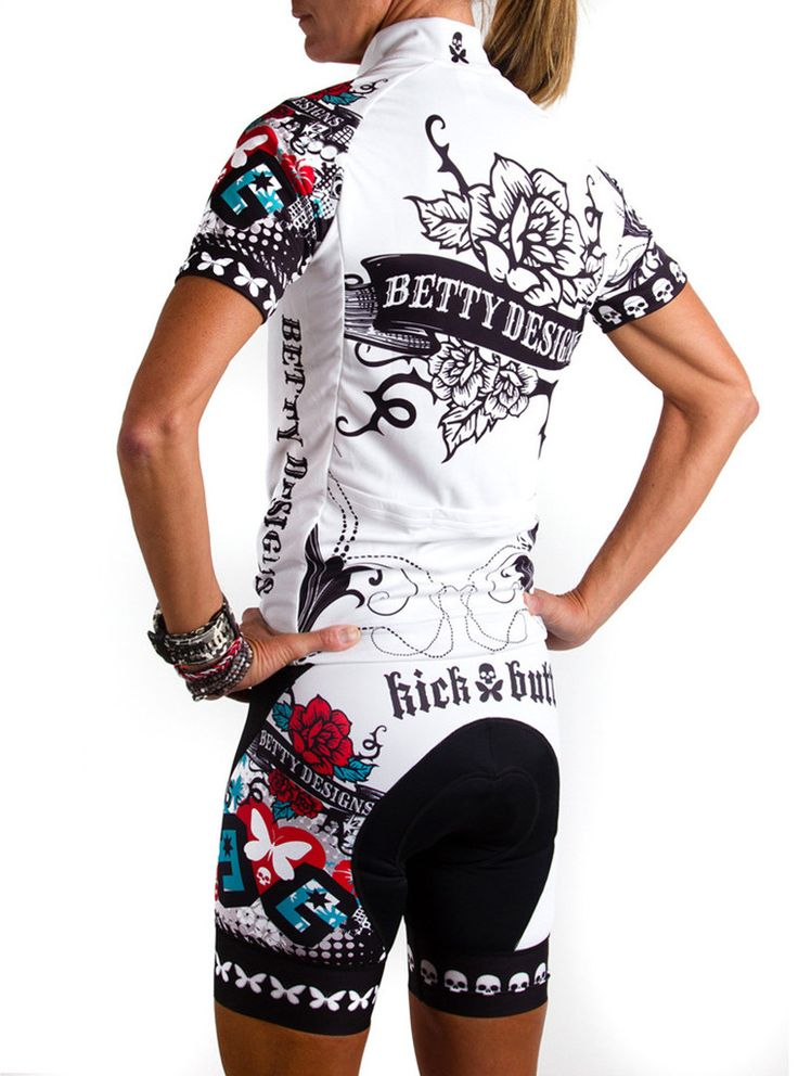 Betty designs tattoo cycle jersey novel cycling gear for Bett design