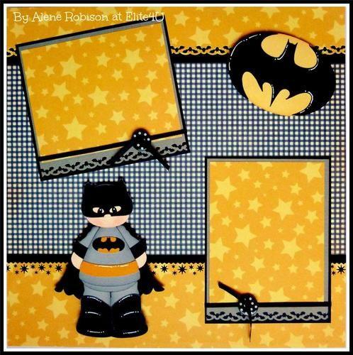 ELITE4U Aleneybeany Batman Super Hero Premade 1 Page Layout Scrapbook 4 Album | eBay