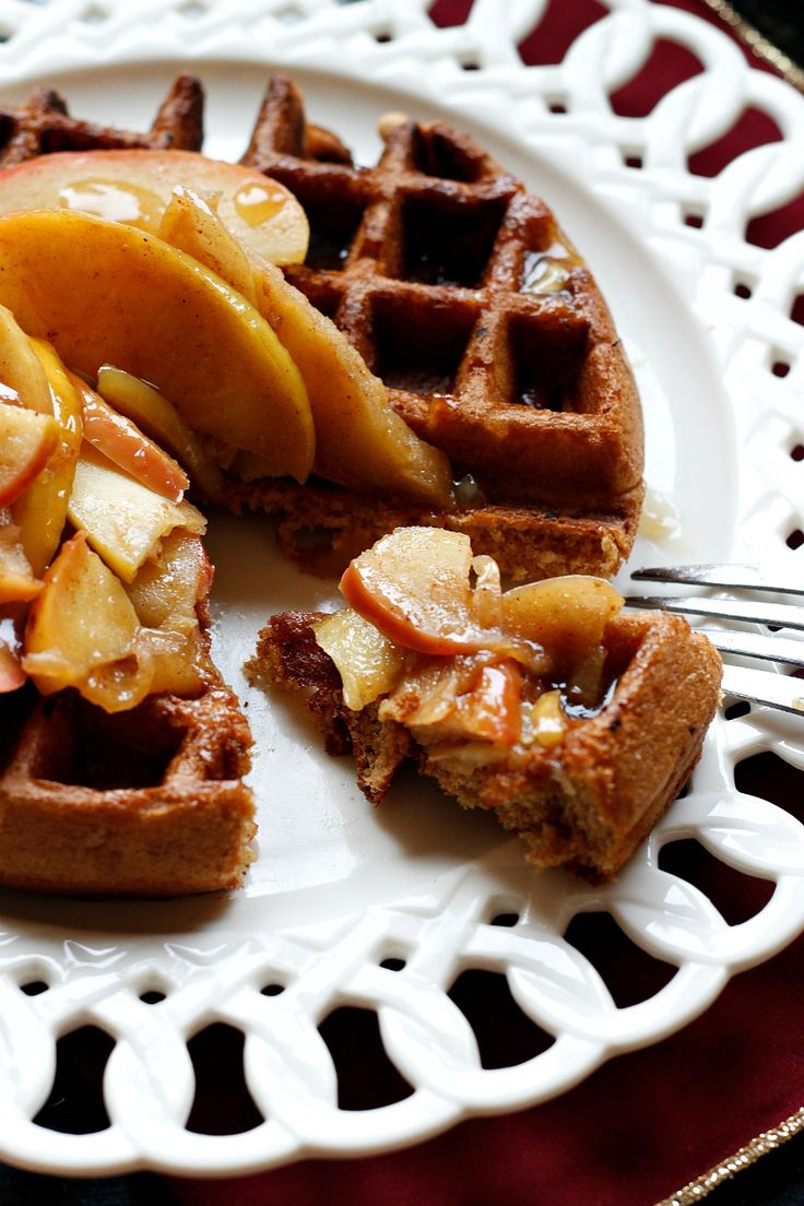 Apple Pie Waffles with a Cider Syrup - belle vie