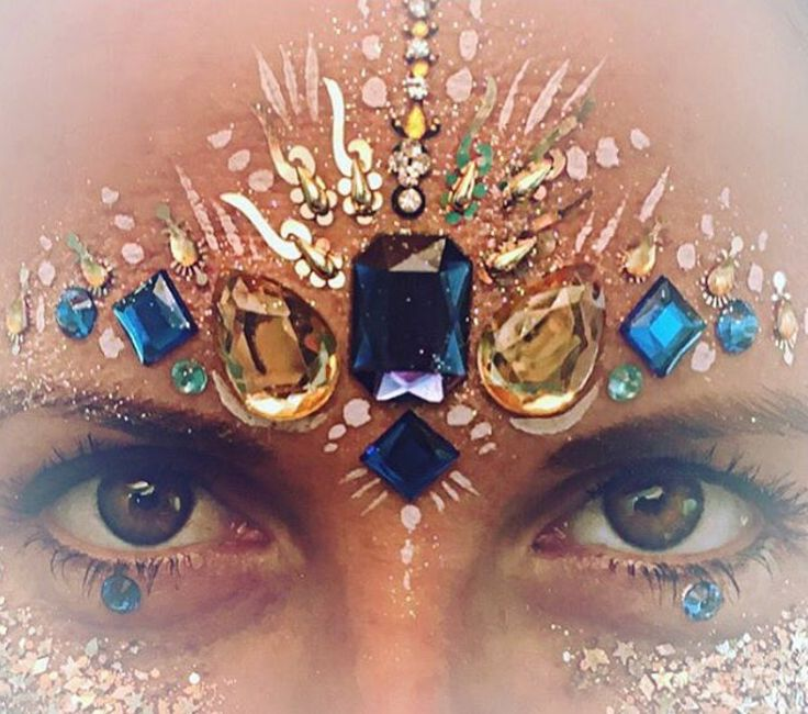 Type of makeup that will be used. It is going to be a lot of body art for the ravers that will included glitter and jewels