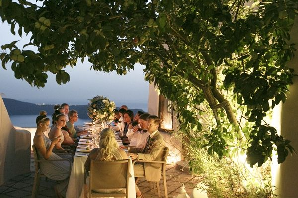 Greek Wedding | Wedding Dinner | Al Fresco Wedding Dinner | Italian Style Wedding