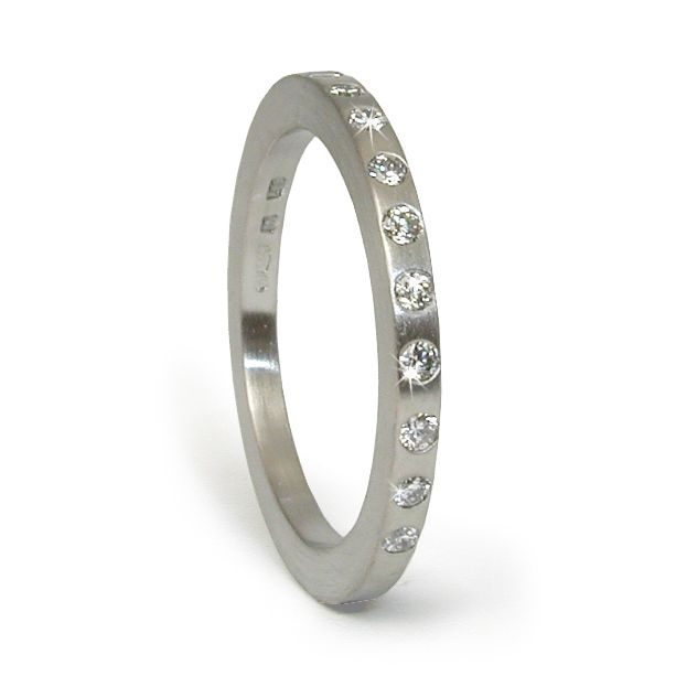 Refined Flats - platinum diamond wedding ring - Jacks Turner