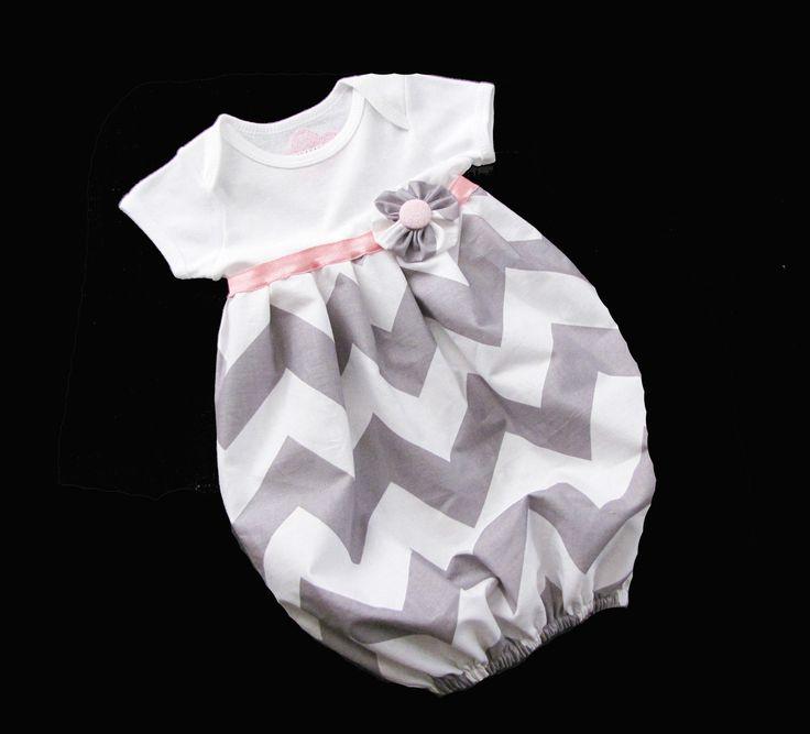BOUTIQUE Baby CHEVRON LAYETTE... Infant gown. $30.00, via Etsy.