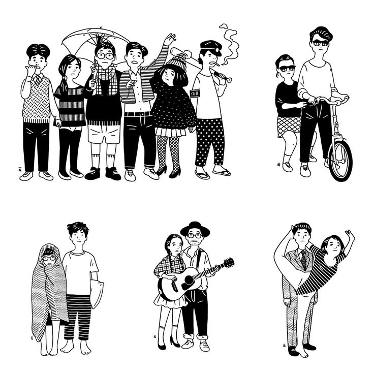 Nimura Daisuke's hipsters. More illustrations on the blog