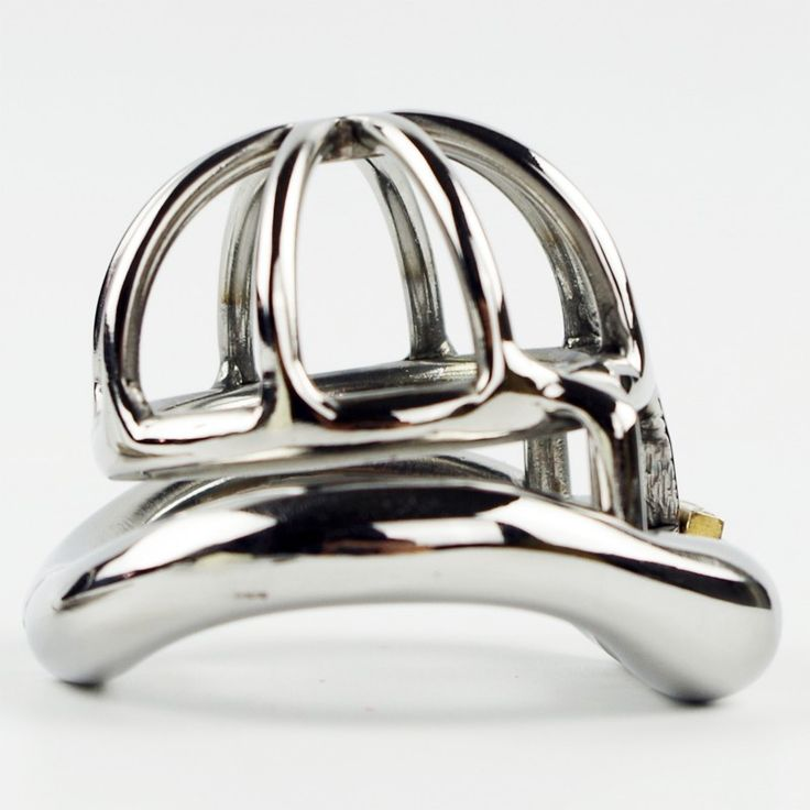 Male Chastity Device Stainless Steel Super Small Size Penis Lock with 4 Size Arc Base Ring Qianchichi