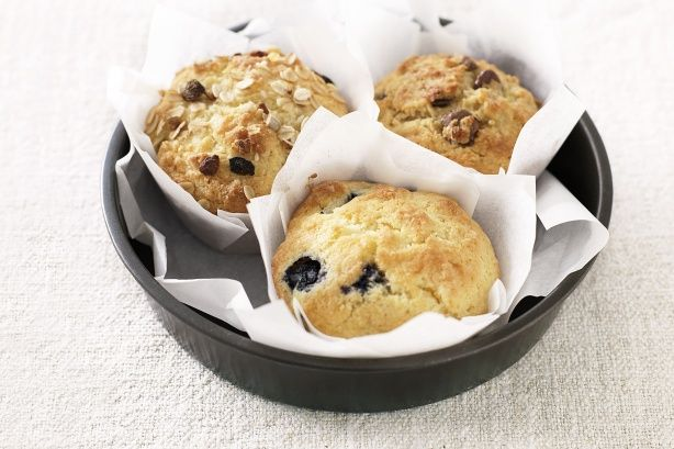 Blueberry and coconut muffins main image