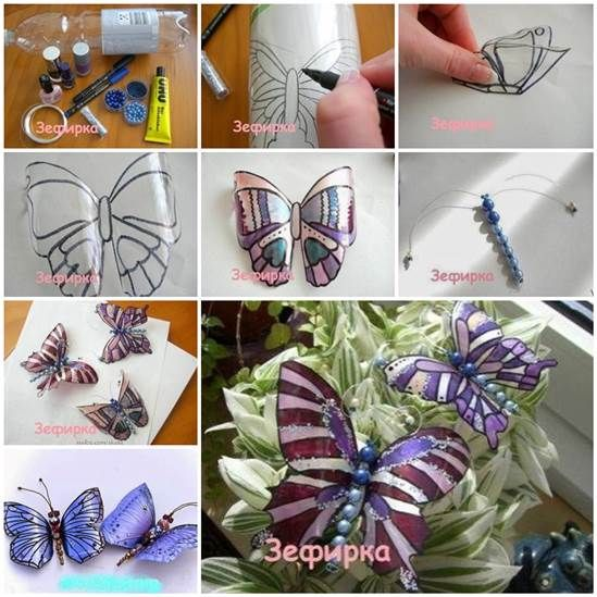 Here is a fun craft project — make lovely butterflies from recycled plastic bottle.  Details--> http://wonderfuldiy.com/wonderful-diy-pretty-butterfly-from-recycled-bottle/