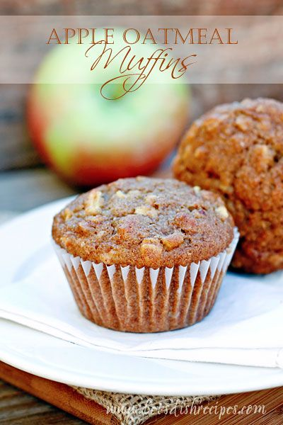 I love baking with apples! And I must say, this is one of the tastiest muffin recipes I've tried in quite awhile. The combination of apples, oats and spices is just perfect, although I find an ex...