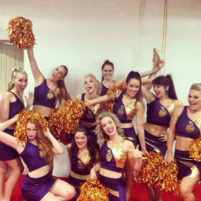 KKR cheerleaders all dress up and ready for our first match