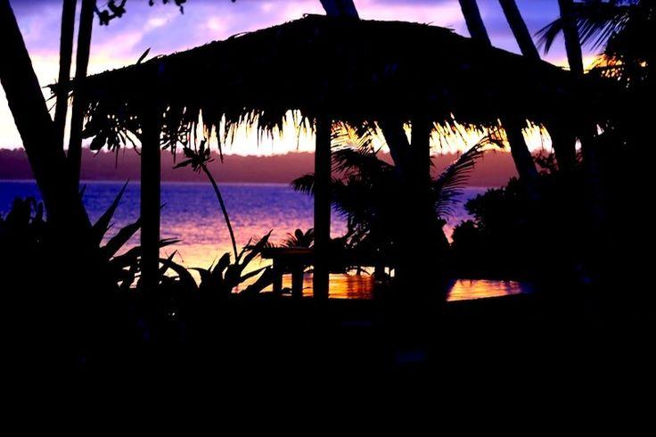 Telo Islands, Sunset. Resort Latitude Zero