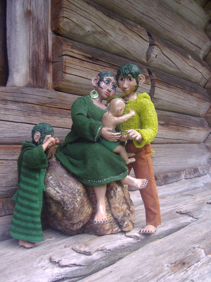 The Mosspeople from Maggås  by Marit Wallenberg www.maritwallenberg.se