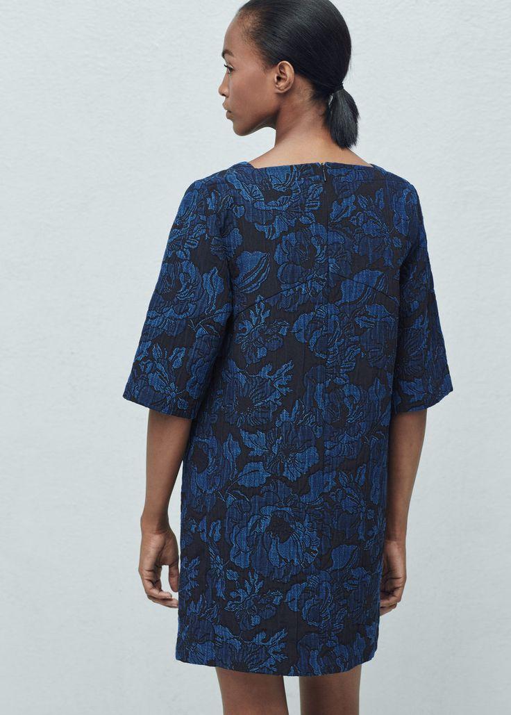 Żakardowa sukienka z teksturą | MANGO
