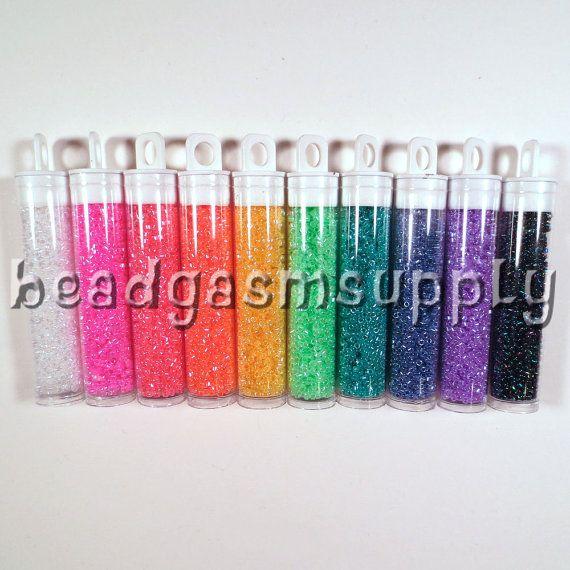 Ceylon Miyuki Delica Bead Lot 75 grams size 11/0 by BeadgasmSupply