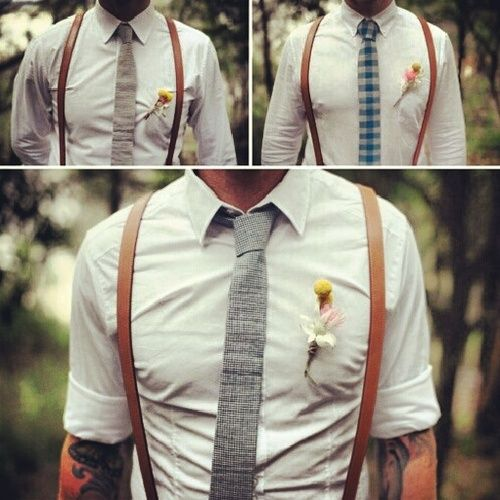 Would love to have my groom/groomsmen do the no jacket/ suspenders look. Let's see if my mother will let me get away with it when the time comes