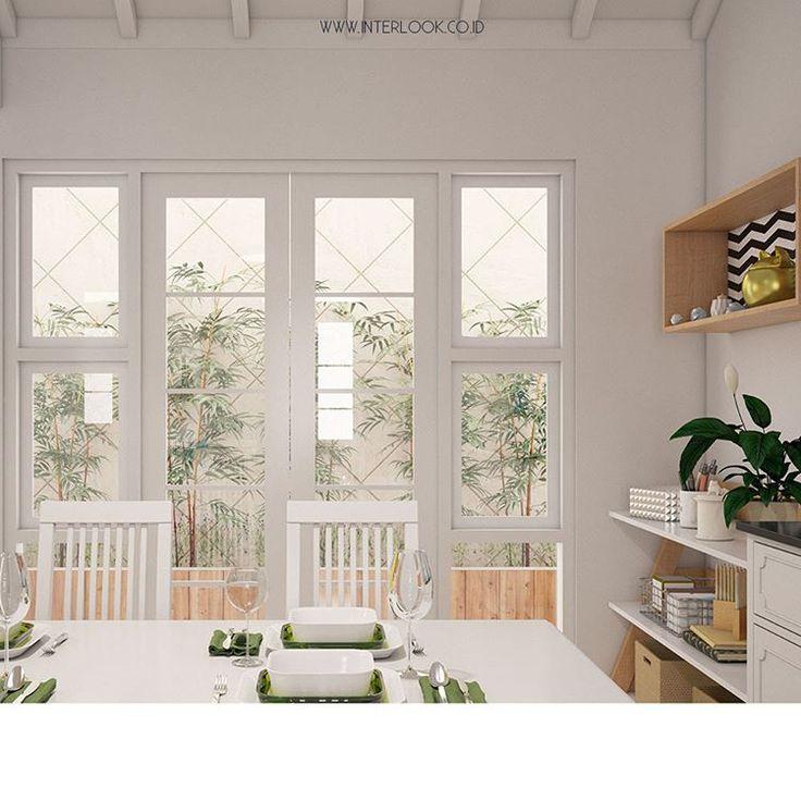 """616 Likes, 2 Comments - Home and Interior Custom (@interlook.co.id) on Instagram: """"Ruang makan yang berdekatan dengan area belakang rumah yang memiliki tumbuhan yang memberikan…"""""""